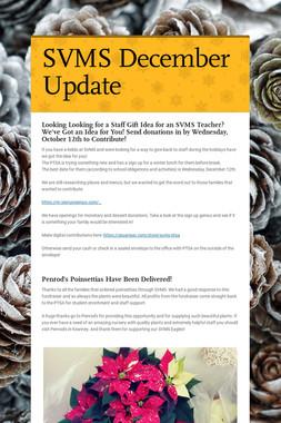 SVMS December Update