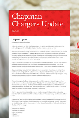 Chapman Chargers Update