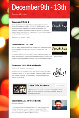 December 9th - 13th