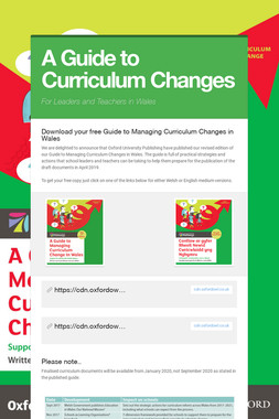 A Guide to Curriculum Changes