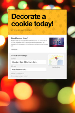 Decorate a cookie today!