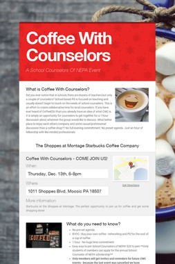 Coffee With Counselors