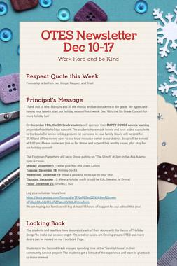 OTES Newsletter Dec 10-17
