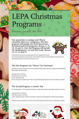 LEPA Christmas Programs