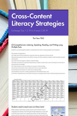 Cross-Content Literacy Strategies