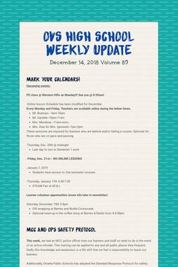 OVS High School Weekly Update