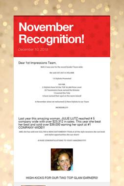 November Recognition!