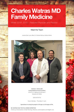 Charles Watras MD Family Medicine