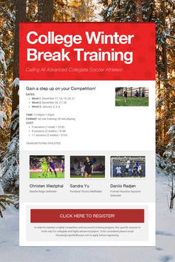 College Winter Break Training