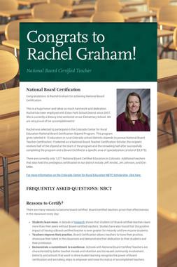 Congrats to Rachel Graham!