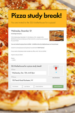 Pizza study break!