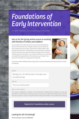Foundations of Early Intervention
