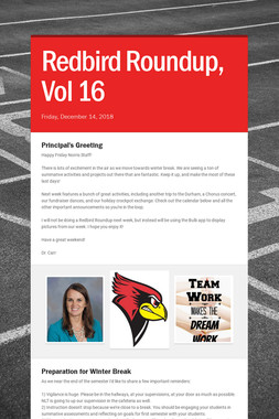 Redbird Roundup, Vol 16