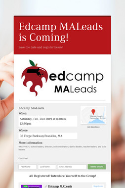 Edcamp MALeads is Coming!