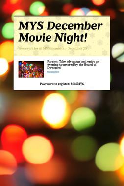 MYS December Movie Night!