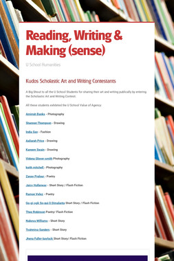 Reading, Writing & Making (sense)