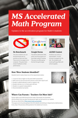 MS Accelerated Math Program
