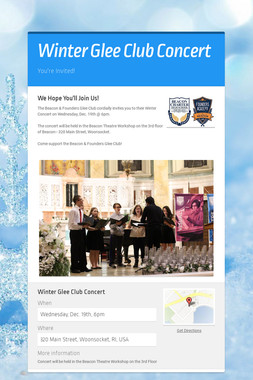 Winter Glee Club Concert