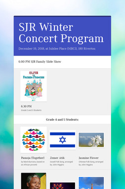 SJR Winter Concert Program