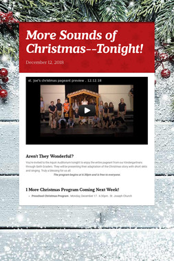More Sounds of Christmas--Tonight!
