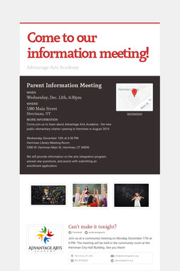 Come to our information meeting!