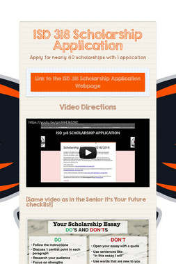 ISD 318 Scholarship Application
