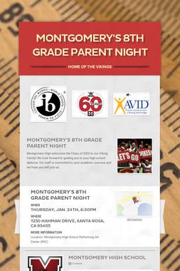 Montgomery's 8th Grade Parent Night