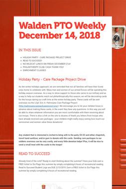 Walden PTO Weekly December 14, 2018