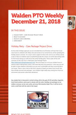 Walden PTO Weekly December 21, 2018