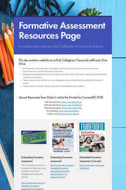 Formative Assessment Resources Page