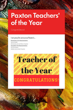Paxton Teachers' of the Year
