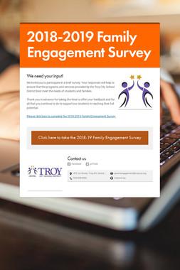 2018-2019 Family Engagement Survey