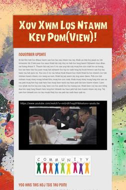 Xov Xwm Los Ntawm Kev Pom(View)!