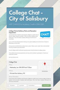College Chat  - City of Salisbury