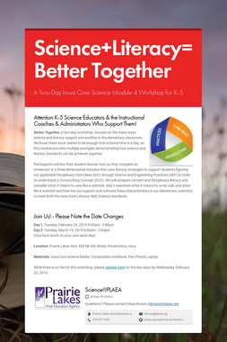 Science+Literacy=Better Together