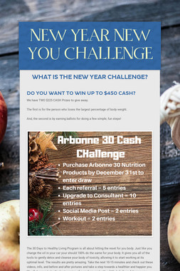 NEW YEAR NEW YOU CHALLENGE