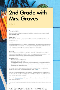 2nd Grade with Mrs. Graves