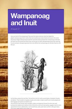 Wampanoag and Inuit