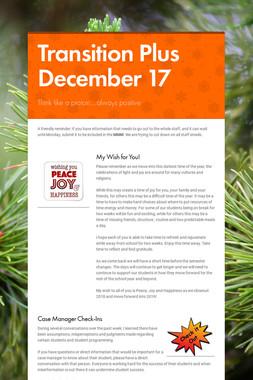 Transition Plus         December 17