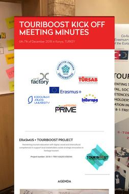 TOURIBOOST KICK OFF MEETING MINUTES