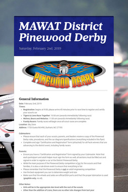 MAWAT District Pinewood Derby