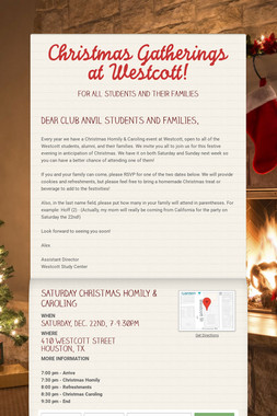 Christmas Gatherings at Westcott!