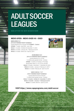 ADULT SOCCER LEAGUES