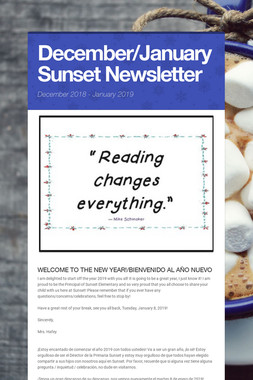 December/January Sunset Newsletter