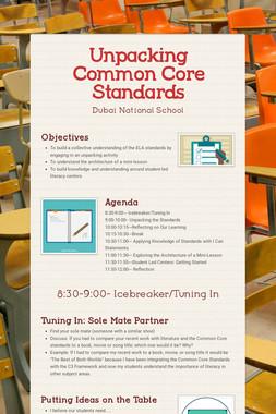 Unpacking Common Core Standards