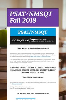 PSAT/NMSQT Fall 2018
