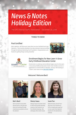News & Notes Holiday Edition