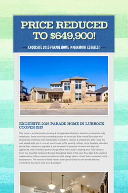 PRICE REDUCED TO $649,900!