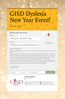 GISD Dyslexia New Year Event!
