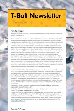 T-Bolt Newsletter